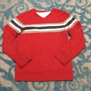 Sonoma red stripe pullover